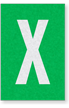Engineer Grade Vinyl Numbers Letters White on green X