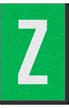 Engineer Grade Vinyl Numbers Letters White on green Z
