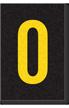 Engineer Grade Vinyl Numbers Letters Yellow on black 0