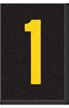 Engineer Grade Vinyl Numbers Letters Yellow on black 1