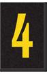 Engineer Grade Vinyl Numbers Letters Yellow on black 4