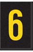 Engineer Grade Vinyl Numbers Letters Yellow on black 6