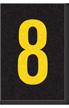 Engineer Grade Vinyl Numbers Letters Yellow on black 8