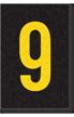 Engineer Grade Vinyl Numbers Letters Yellow on black 9