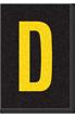 Engineer Grade Vinyl Numbers Letters Yellow on black D