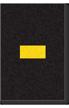 Engineer Grade Vinyl Numbers Letters Yellow on black Dash