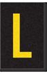 Engineer Grade Vinyl Numbers Letters Yellow on black L