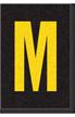 Engineer Grade Vinyl Numbers Letters Yellow on black M