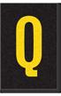 Engineer Grade Vinyl Numbers Letters Yellow on black Q