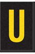 Engineer Grade Vinyl Numbers Letters Yellow on black U