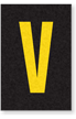 Engineer Grade Vinyl Numbers Letters Yellow on black V