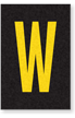 Engineer Grade Vinyl Numbers Letters Yellow on black W