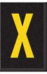 Engineer Grade Vinyl Numbers Letters Yellow on black X