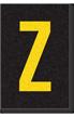 Engineer Grade Vinyl Numbers Letters Yellow on black Z
