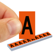 All Weather Mylar Letters 1 Inch Tall Black on Orange