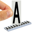 All Weather Mylar Letters 2 Inch Tall Black on White