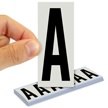 All Weather Mylar Letters 3 Inch Tall Black on White