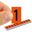 All Weather Mylar Numbers 1 Inch Tall Black on Orange