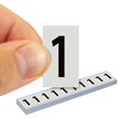 All Weather Mylar Numbers 1 Inch Tall Black on White