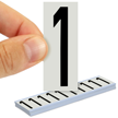 All Weather Mylar Numbers 2 Inch Tall Black on White