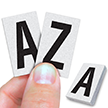 Reflective Vinyl Letters 1 Inch Tall Black on White