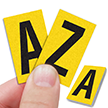 Reflective Vinyl Letters 1 Inch Tall Black on Yellow