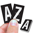 Reflective Vinyl Letters 1 Inch Tall White on Black