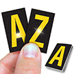 Reflective Vinyl Letters 1 Inch Tall Yellow on Black