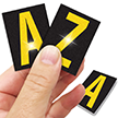 Reflective Vinyl Letters 1.5 Inch Tall Yellow on Black