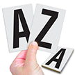 Reflective Vinyl Letters 3.75 Inch Tall Black on White