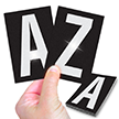 Reflective Vinyl Letters 3.75 Inch Tall White on Black