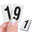 Reflective Vinyl Numbers 1 Inch Tall Black on White