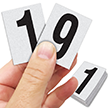 Reflective Vinyl Numbers 1.5 Inch Tall Black on White