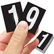 Reflective Vinyl Numbers 1.5 Inch Tall White on Black