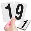 Reflective Vinyl Numbers 3.75 Inch Tall Black on White
