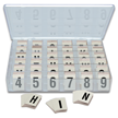 Reflective Vinyl Numbers and Letters Kit 1 Inch Tall Black and White