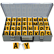 Reflective Vinyl Numbers and Letters Kit 2.5 Inch Tall Black and Yellow
