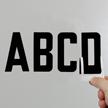 Self-Align Die-Cut Vinyl Letters 3 Inch Tall Black