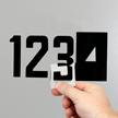 Self-Align Die-Cut Vinyl Numbers 3 Inch Tall Black