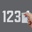 Self-Align Die-Cut Vinyl Numbers 3 Inch Tall White