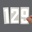 Self-Align Die-Cut Vinyl Numbers Set 3 Inch Tall White