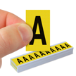 Vinyl Cloth Letters 1 Inch Tall Black On Yellow