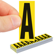 Vinyl Cloth Letters 2 Inch Tall Black On Yellow