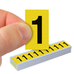 Vinyl Cloth Numbers 1 Inch Tall Black On Yellow