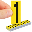 Vinyl Cloth Numbers 2 Inch Tall Black On Yellow