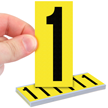 Vinyl Cloth Numbers 3 Inch Tall Black On Yellow