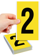 Vinyl Cloth Numbers 6 Inch Tall Black On Yellow