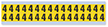 Small Vinyl Cloth Number '4' Label, 0.625 Inch