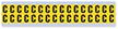 Small Vinyl Cloth Letter 'C' Label, 0.625 Inch