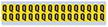 Small Vinyl Cloth Letter 'Q' Label, 0.625 Inch